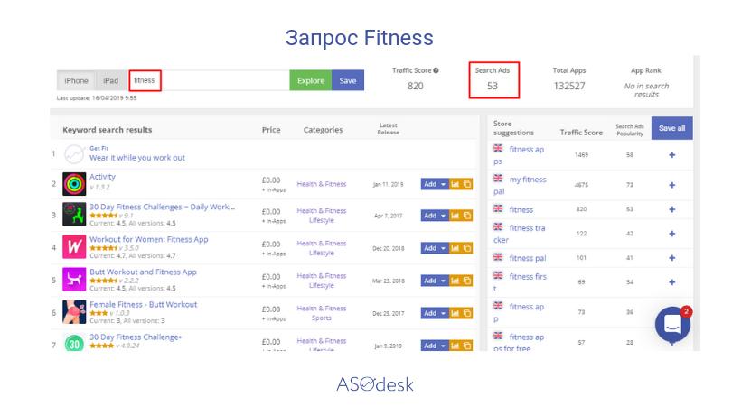 Инструмент Keyword Explorer (Ads Search Popularity)