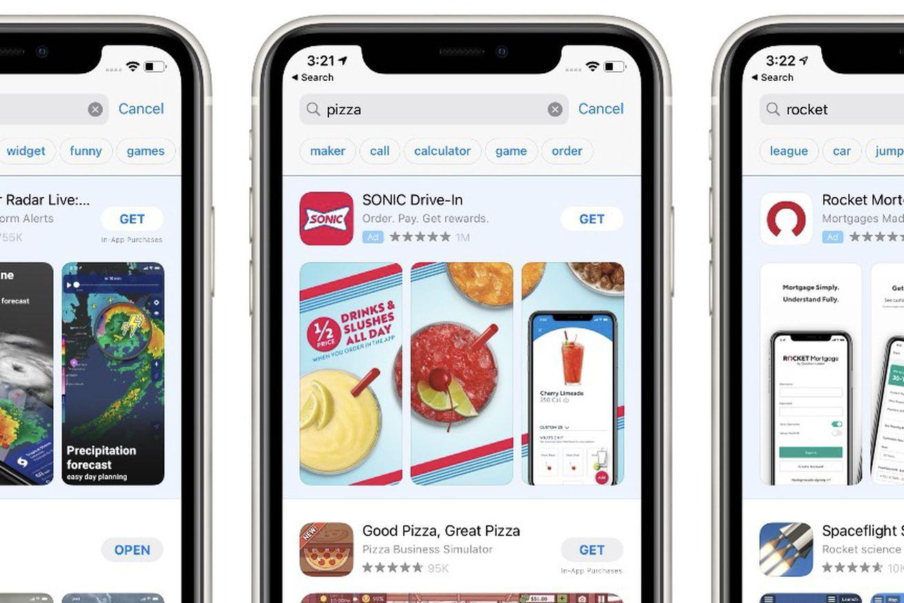Новая функция поиска по тегам в App Store