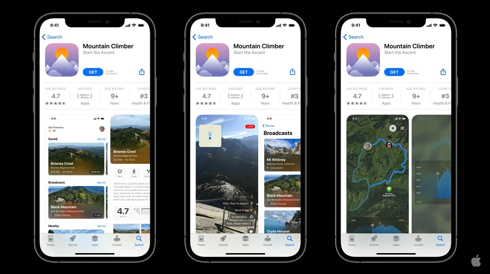 В App Store можно создавать кастомные страницы продуктов с разными иконками, скриншотами и превью